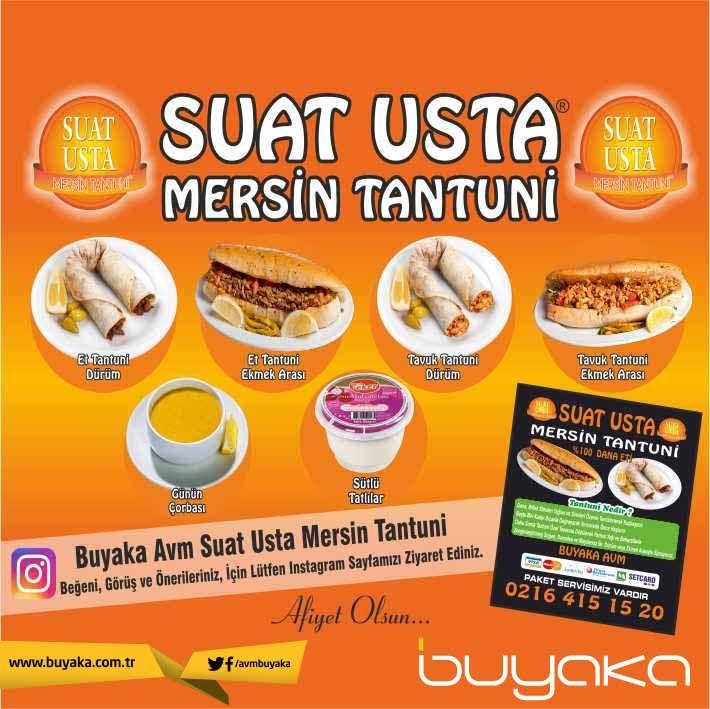 Buyaka'da leziz bir mola için Suat Usta Mersin Tantuni'ye davetlisiniz. :) #BuyakaBiBaşka #SuatUsta #Tantuni #Lezzet #BuyakaAvm