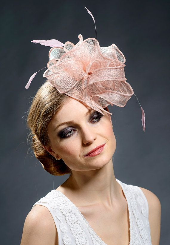 Blush Pink Fascinator For Weddings Ascot Derby By Margeiilane