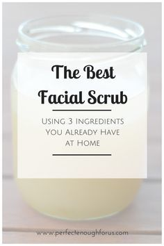 This super simple homemade facial scrub is by far the best scrub I have ever used. It leaves my skin so soft and radiant. So easy to make using 3 ingredients you already have at home.