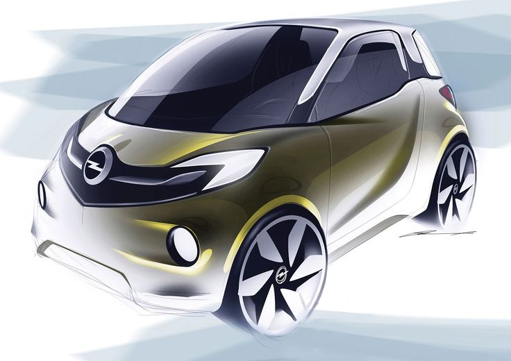 Opel EVE Concept Design Sketch by Marcell Sebestyen