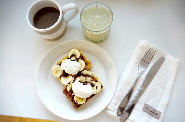 good morning / brekfast / waffles / avocado banana smoothie / coffee / Lexington / Balmuir