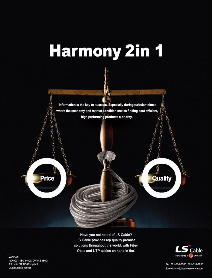 #harmony #utp #ftp #fiberoptic #advertising #lscable #network