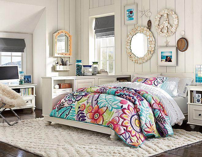 I love the PBteen Chelsea Keala Floral Bedroom on pbteen.com likes sheets