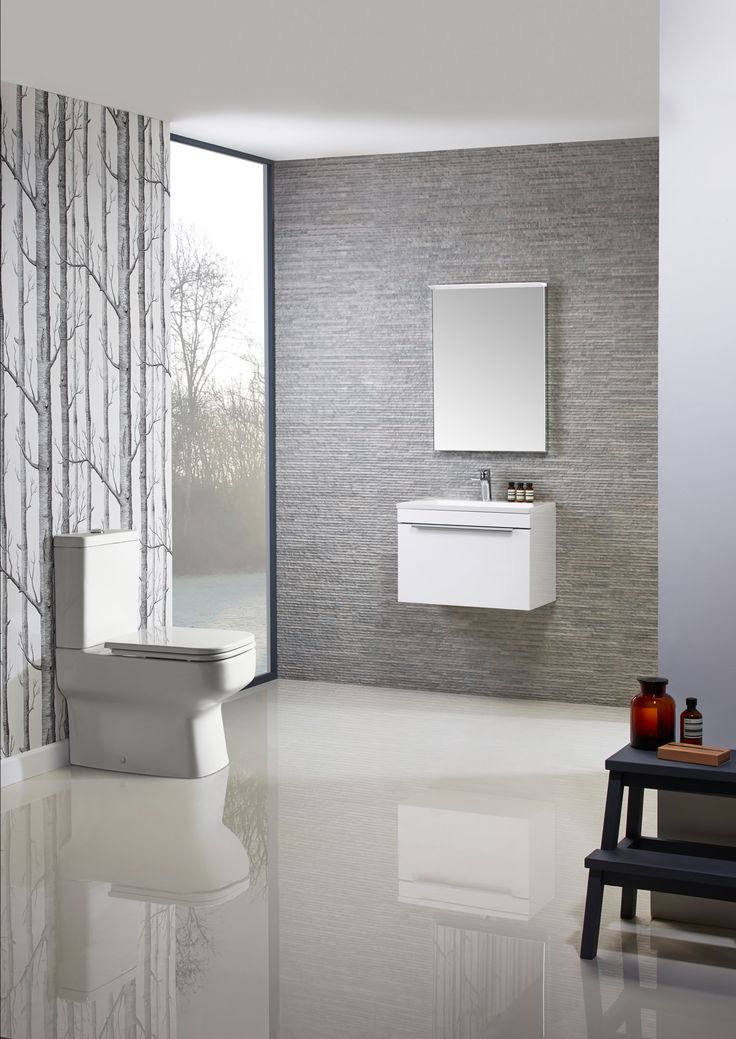 Additional image of Roper Rhodes Cypher 600mm Wall Mounted Unit With Basin White