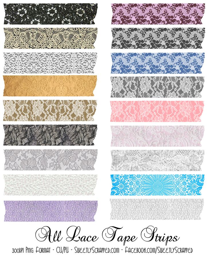 digital lace tape strips (washi tape) by Sweetly Scrapped