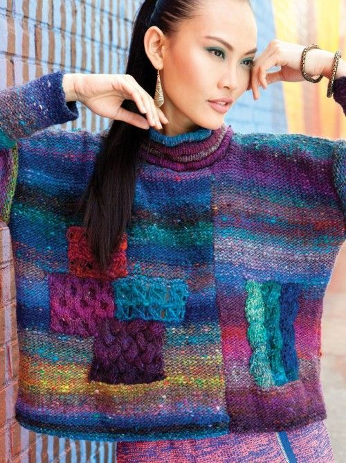 13 - Asymmetrical Pullover from Noro Magazine #03 by  at KnittingFever.com  #NoroKnittingMagFW13