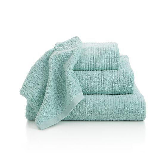 Charisma Bath Towels Seafoam: Hand Towels, Hands And Crate