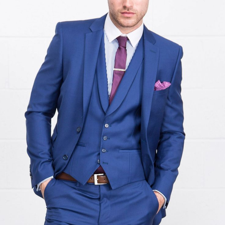 ONESIX5IVE Three Piece Slim Fit Blue Suit - Three Piece Suits - Mens Suits - Suits & Tailoring | Slaters