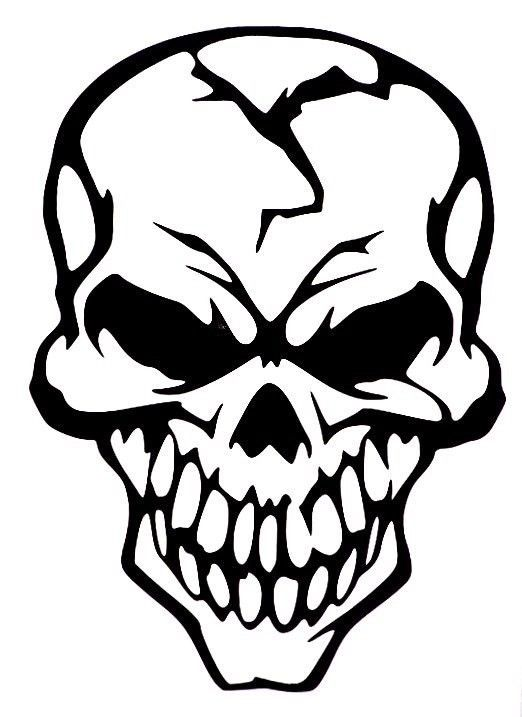 Evil Skull Of Death Car Truck Window Vinyl Decal Sticker 10 Colors #VinylDecalSticker