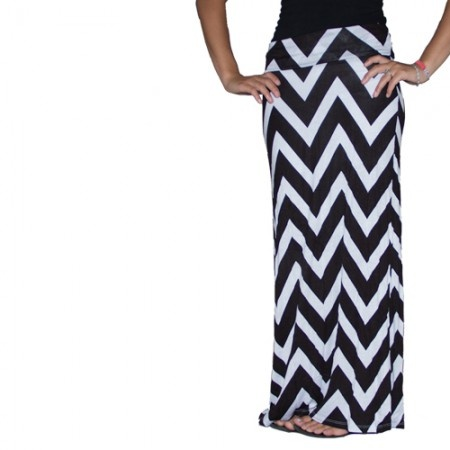 New Chevron Maxi Skirts online and ON SALE!