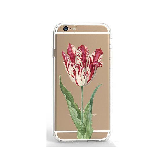 Transparent iPhone 6  case tulip phone case hard iPhone 7