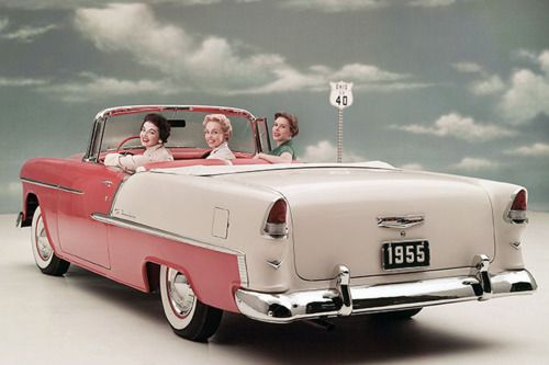 1950s Chevrolet Bel-air pink car i swear to god i will have one to cruise in one day!