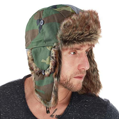 bdcb4542d The Hat Depot Faux Fur Safety Reflective Aviator Kids Adult Trapper ...