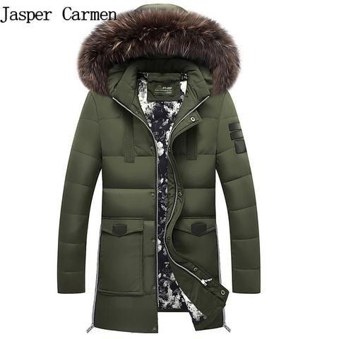 Men's Winter Jacket Padded Parka Man Long Thick