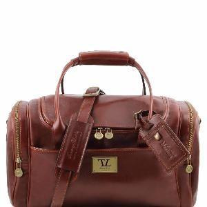Tuscany Leather - Berlin - Sac de voyage en cuir avec boucles - Grand modèle Miel - TL1013/3 2X231kSfJ
