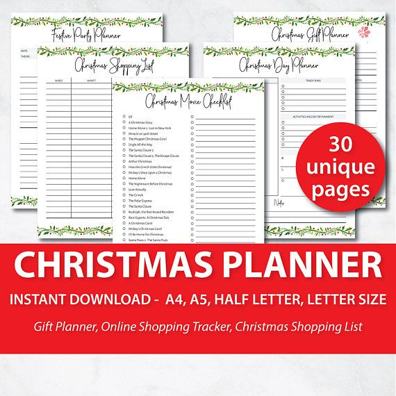 If Planning Out Christmas For Your Family Is As Busy And Chaotic As It Is For Me This Planner Is Goin Holiday Planner Christmas Planner Christmas Gift Planner
