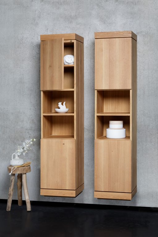 double brown wooden bathroom wall cabinet with brown wooden shelf floating on grey bathroom wall inspiring schemes of solid wood bathroom wall cabinet