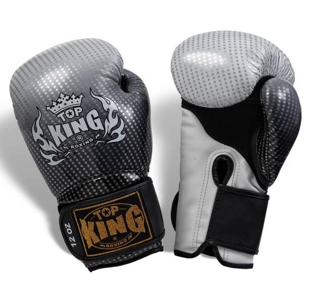 """Top King Silver Boxing Gloves """"Super Star"""" available from http://www.topking.eu"""