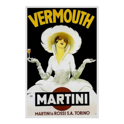 vintage alcohol ad posters   Martini Vermouth Vintage Liquor Poster Print from Zazzle.com