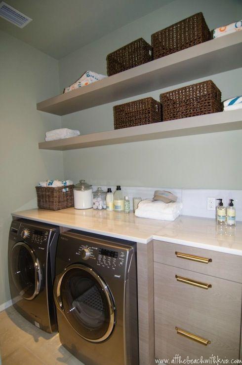 Laundry room shelves laundry room pinterest for Laundry room shelving