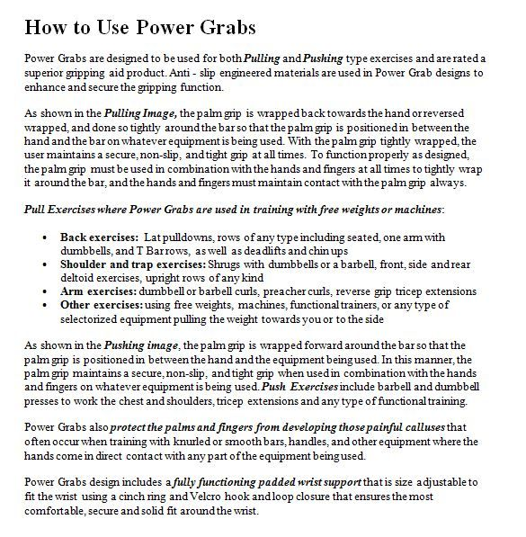 """Power Grabs Lifting Grips """" How To Use"""""""