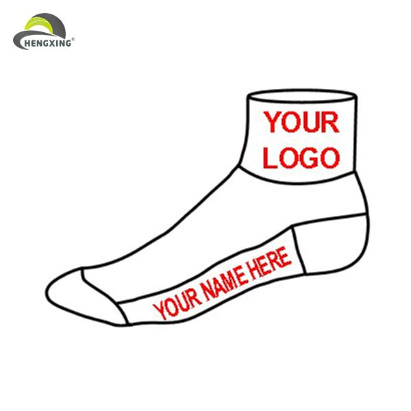 Cheap wholesale custom logo cotton socks