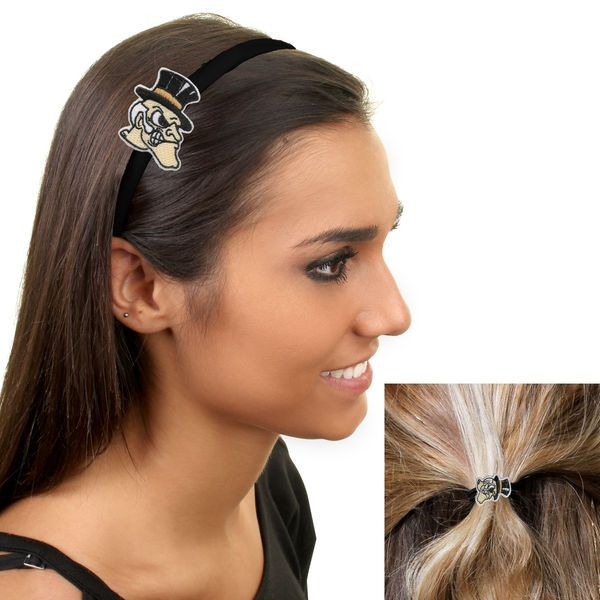 Wake Forest Demon Deacons Women's Headband and Ponytail Set - $8.99