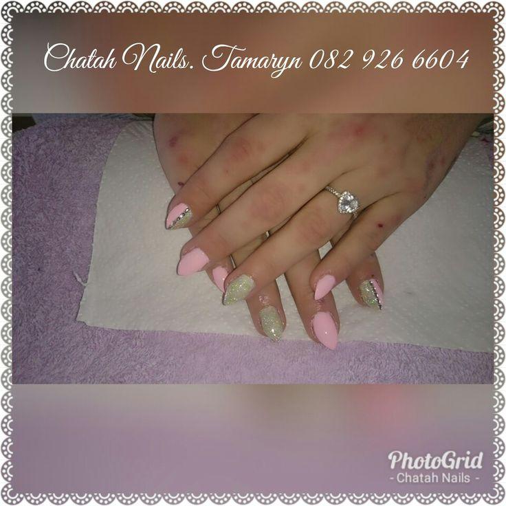 Pink and silver stilettos