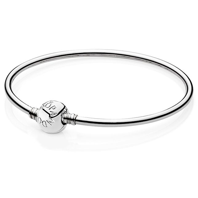 Pandora Bangle Bracelet with Barrel Clasp - Precious Accents - what my hubby bought me for our anniversary