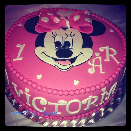 Minnie Mouse cake, Walt Disney cake ,  www.mycake.no https://www.facebook.com/pages/Mycake/518427724909847