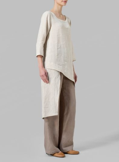 MISSY Clothing - Linen Asymmetrical Tunic