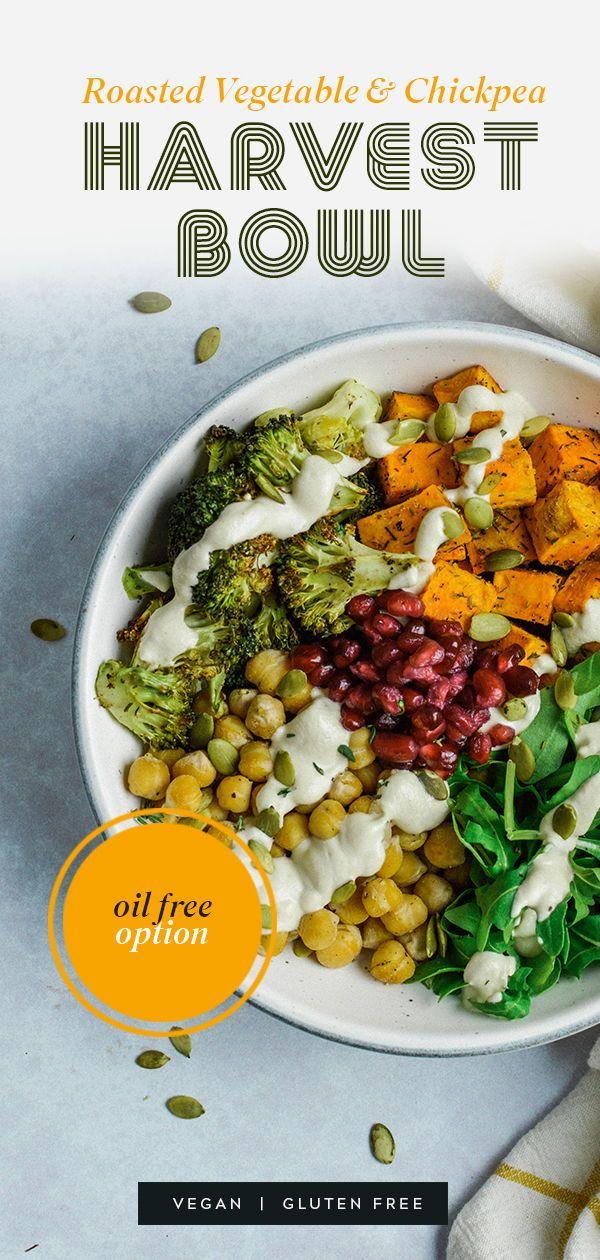 Roasted Vegetable & Chickpea Harvest Bowl