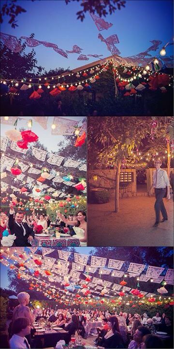 Outdoor Mexican wedding decor ideas