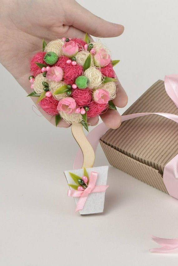 Mothers Day Flower Fridge Magnet For Women 21st Birthday Gift Ideas Her Unusual Grandma Best Sister Pink White