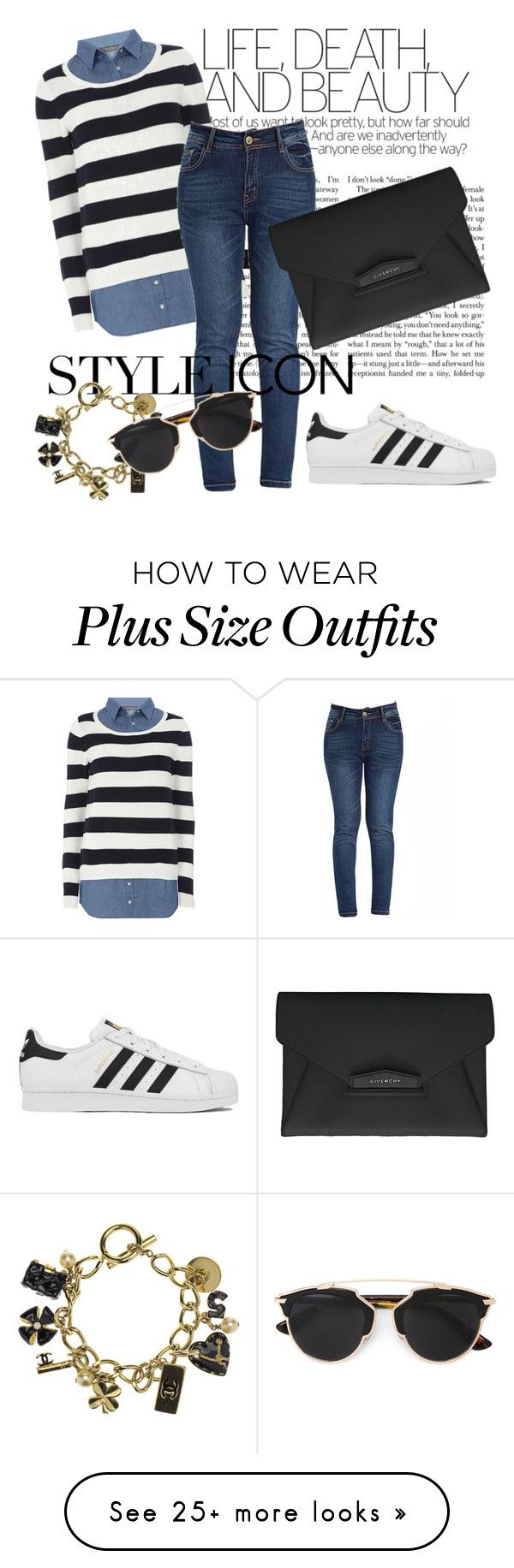 """42#"" by omahtawon on Polyvore featuring Dorothy Perkins, adidas, Givenchy, Chanel, Christian Dior, women's clothing, women, female, woman and misses"