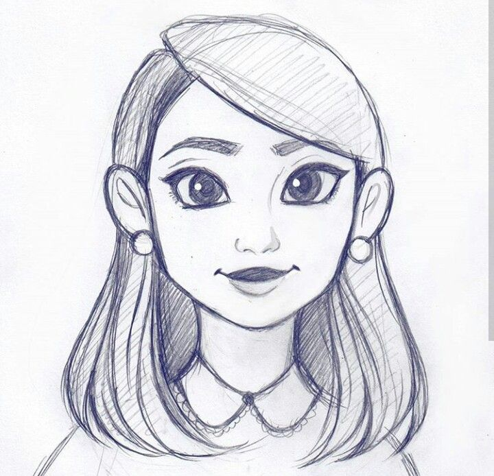 drawing sketch hair drawings sketches cool simple instagram easy quick cartoon animation person pencil dibujos portrait characters been busy lapiz