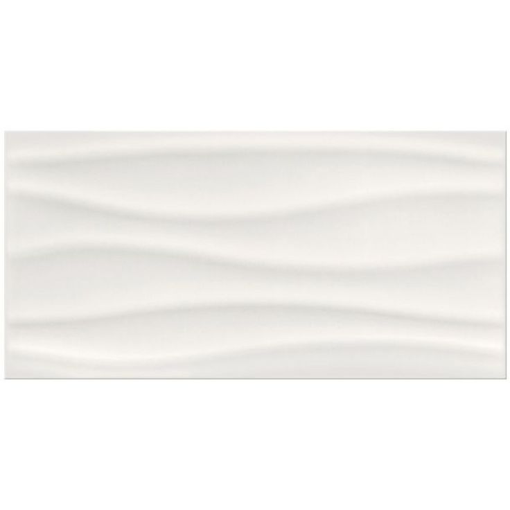 Barletta Wave White Glossy Gloss 3d D 233 Cor Feature Wall