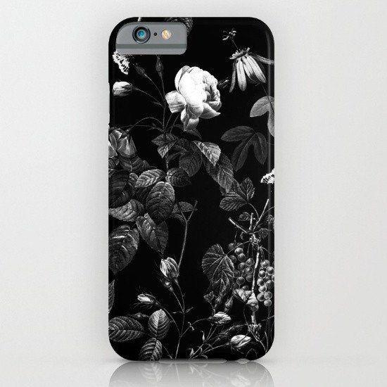 Dark Floral - Dark Flower iphone case, smartphone