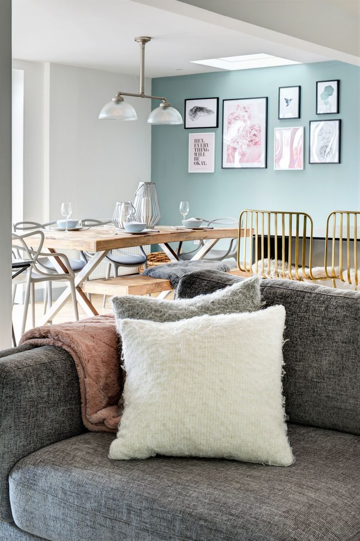 Open plan lounge and dining space with a beautiful…