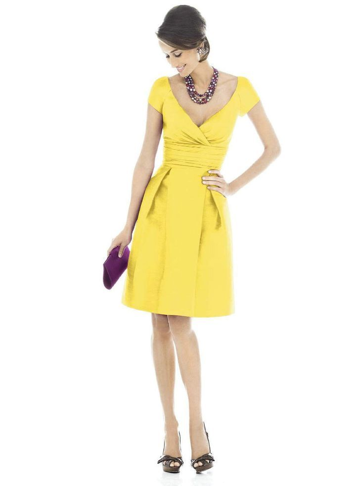 Robe soiree jaune citron