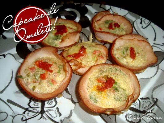 Omelete com Peito de Peru