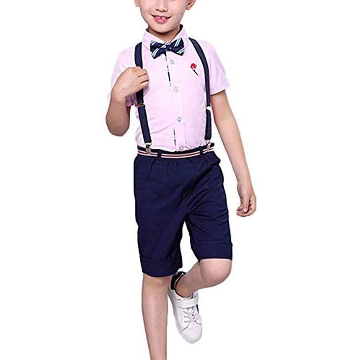 2 Pcs Kleinkind Jungs Shirt Shorts Hosen Set Gent…