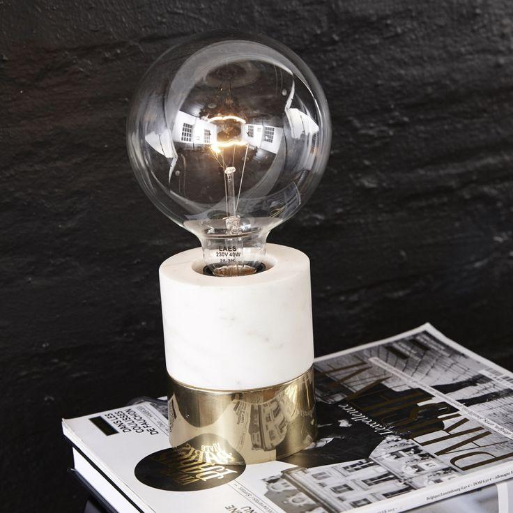 Visa detaljer för Lampa marmor/mässing