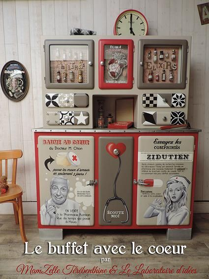17 meilleures id es propos de meubles peints sur pinterest peindre des meubles meubles. Black Bedroom Furniture Sets. Home Design Ideas