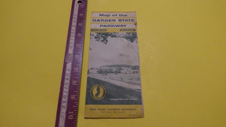 Vintage #official road map garden state #parkway new #jersey red bank,  View more on the LINK: http://www.zeppy.io/product/gb/2/252708664306/