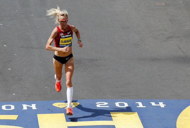 This is Shalane Flanagan, she just absolutely killed it at the Boston Marathon. She came in seventh. | Meet Shalane Flanagan, Massachusetts Native And The Fastest American Woman At The Boston Marathon