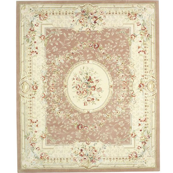 Chinese Florence Silk and Wool Hand-tufted Area Rug (7'9 x 9'9)