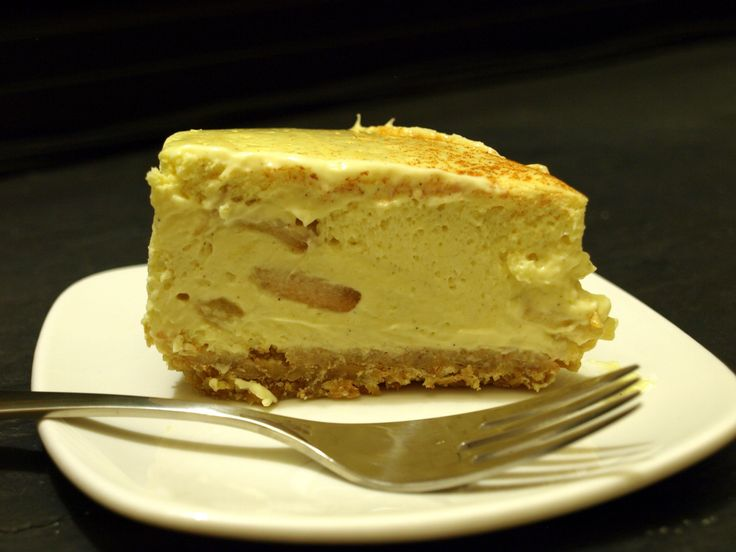 Apple bourbon cheesecake