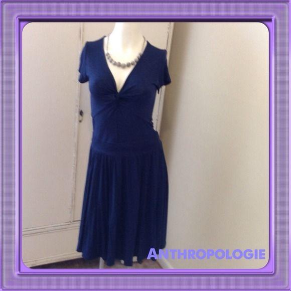 FLASH SALE Pretty Navy Dress from Anthropologie Navy Dress by TShirt for Anthropologie Anthropologie Dresses