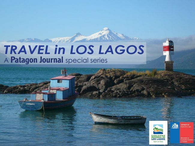 Poster for our special web series on travel in Chile's Los Lagos region.  Photo of Cochamo, by Jeremy Lauer